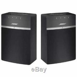 Pack De 2 Haut-parleurs Bluetooth Bose Soundtouch 10 Wi-fi, Avec Câble D'alimentation Et Télécommande