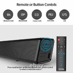 Paiyda Tv Soundbar Sound Bar Bluetooth 5 Soundbar Construit En Sub + Télécommande Sans Fil