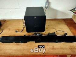 Polk Audio Surroundbar 9500bt Sound Bar Avec Bluetooth & Wireless Sub Et À Distance