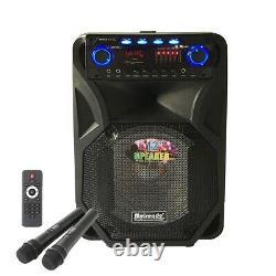 Portable 12/15 Bluetooth Pa Speaker System Remote Dj Speaker Wireless 2 MIC Us