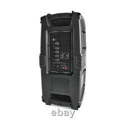 Portable Party Speaker Wireless Bluetooth Fm Radio Remote Control Led Lights F1