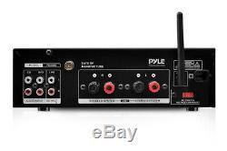 Pyle Pda6bu Système D'amplificateur De Puissance Sans Fil Bluetooth À 2 Canaux Et 200w