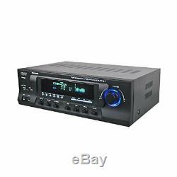 Pyle Pt272aubt De Puissance Audio Sans Fil Bluetooth Amplificateur 300w 4 Canaux Récepteur