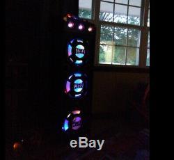 Qfx 3 12 Pa Speaker System 4000w Bluetooth Lecteur Sd Usb Fm À Distance Eq