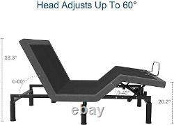 Queen Taille Améliorée Smart Electric Massage Bed Frame Wireless Remote & Bluetooth