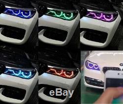 Rgbw Led Angel Eye Halo 4 Drl Bmw 2015-18 F80 F30 F31 3 Led Série Hid Bluetooth