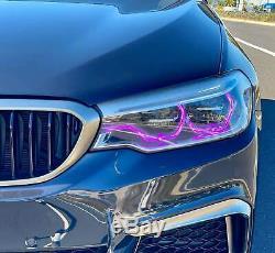 Rgbw Led Angel Eye Halo 4 Drl Bmw 2018-19 G30 G31 5 Led Série Hid Bluetooth