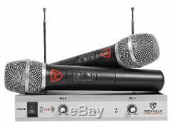 Rockville Pro Karaoke Machine System Avec Bluetooth + Led + (2) Micros Sans Fil + Télécommande