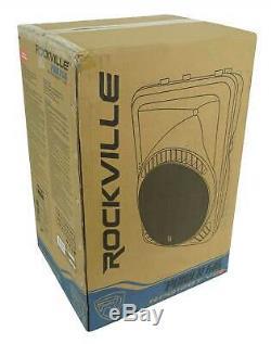 Rockville Rpg12bt V2 12 Powered 800w Dj Pa Président Bluetooth / Sans Fil / À Distance / Eq