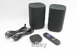 Roku Tv 9030x Sans Fil Bluetooth Haut-parleurs Avec Télécommande Et Voix Tabletop À Distance