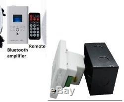 Sans Fil Bluetooth Plafond Haut-parleurs Stéréo Amp Kit Usb Fm Aux Sd À Distance Dans Le Mur