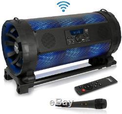 Sans Fil Haut-parleur Portable Bluetooth Fort Avec Le Parti Led Usb À Distance Du Microphone Fm