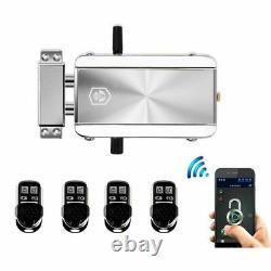 Serrure De Porte Télécommande Sans Fil Bluetooth Électronique Moteur Anti-vol Sécurité