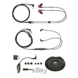 Shure Ecouteurs À Isolation Sonore Rouge Se535ltd Limited Avec Télécommande Et Microphone