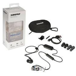 Shure Ecouteurs Bluetooth À Isolation Sonore Sans Fil Se215, Noir Avec Télécommande Et Micro
