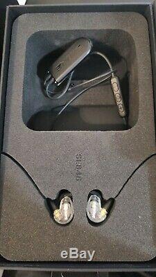 Shure Se846-cl + Bt2 Écouteurs À Isolation Sonore Avec Bluetooth Et 3,5 MM À Distance Et Micro