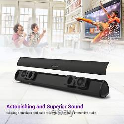 Son Bar Filaire Et Sans Fil Bluetooth Haut-parleur Audio Accueil Télécommande Nouveau
