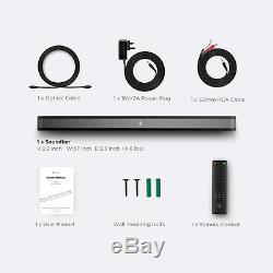 Sound Bar, Bomaker 37 Pouces 2.0 Soundbar, 110db Tirettes Pour La Télévision, Mur À Distance