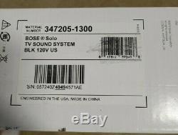Sound Bar Bose Tv Solo Système Filaire Noir Enceinte Simple Télécommande Utilisé