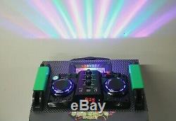 Système Audio De Musique Bt Partie En Direct Bluetooth Sd Usb 2x Télécommande Sans Fil Microphone