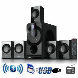 Système De Son Surround Tours Home Cinéma Télécommande Bluetooth Usb Radio Sd Fm