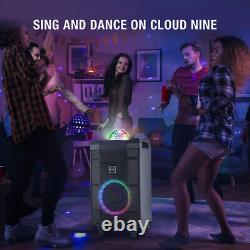 Système Haut-parleur De Machine De Karaoke 8led Avec Télécommande Sans Fil MIC Bluetooth