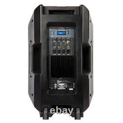 Total Pa Premier Tout-en-un Haut-parleur Bluetooth, Inclure Stand & Télécommande Sans Fil
