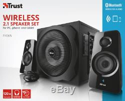 Trust 19367 2.1 Tytan 120w Bluetooth + Option Filaire Avec Haut-parleur Câblé + Télécommande