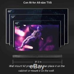 Tv Sans Fil Soundbar Bluetooth5.0 Fm Haut-parleur Radio Hometheaterled Affichage + Télécommande