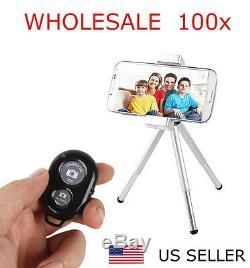 Vente En Gros Lot 100x Bluetooth Sans Fil À Distance Shutter Caméra De Contrôle Pour Téléphone