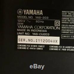 Yamaha Yas-203 Sound Bar Bluetooth Sans Fil Avec Subwoofer + Télécommande Home Cinéma